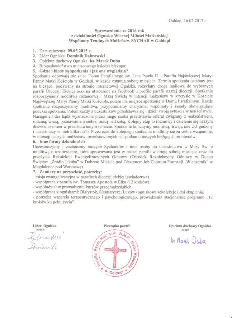 Sprawozdanie Gołdap 2016